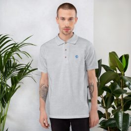 LDC Embroidered Polo Shirt – Pocket Logo Blue